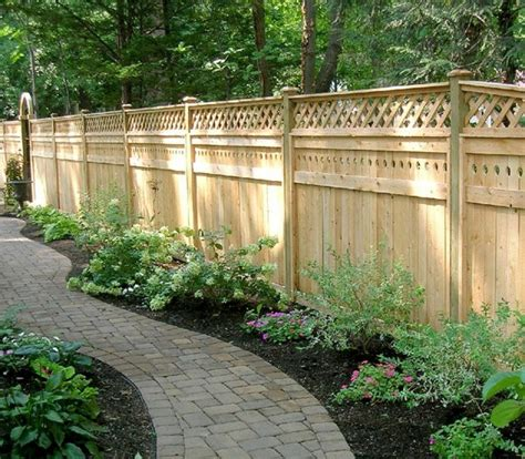 Wooden Garden Fence Garden Fence Made Of Wood One Decor