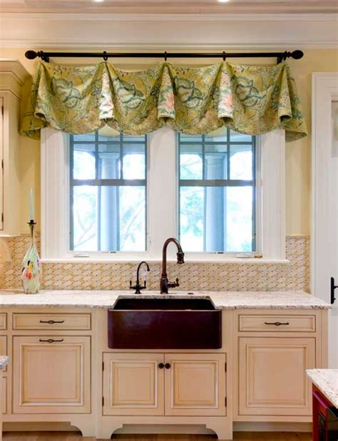 Kitchen Window Valance Ideas Curtains For The Kitchen 34 Photo Ideas For Inspiration
