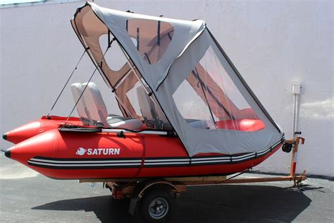 canvas inflatable boat 14 inflatable boats bimini sun rain shade dome or