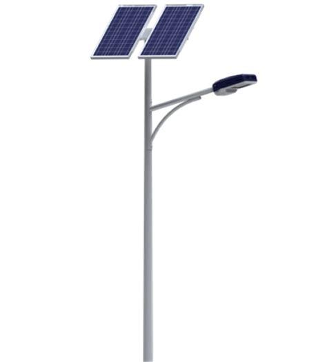 Solar Light Pole 6 Meter Single Arm Galvanize Solar Light Pole
