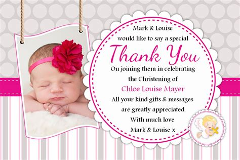 Thank You Cards For Baptism What To Write