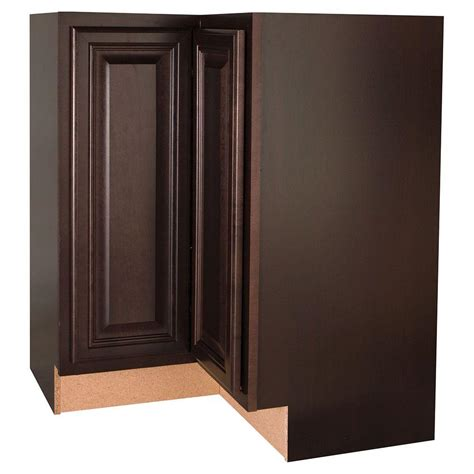 Revolving Corner Cabinet Hampton Bay Assembled 28 375x34 5x16 5 In Cambria Lazy