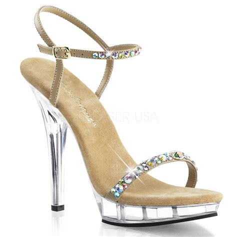pageant shoes clear pageant platform heels rhinestones bridal