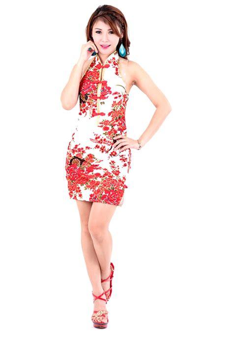 25417 White Cheongsam Size S luxurious white mini cheongsam asian dresses