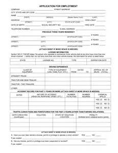 free truck driver application template the licensing provisions in part 383 are intended to help