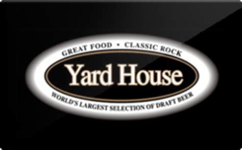 yard house gift card discounts comparison chart - Yard House Gift Cards