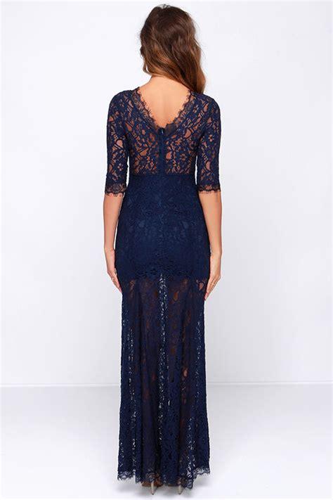 Sale Dress 2798 Brokat Fit Xl gorgeous navy blue dress lace dress half sleeve dress