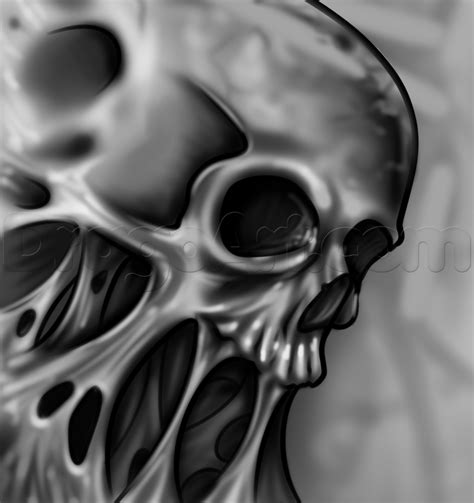 melting skull tattoo how to draw a skull step by step tattoos pop