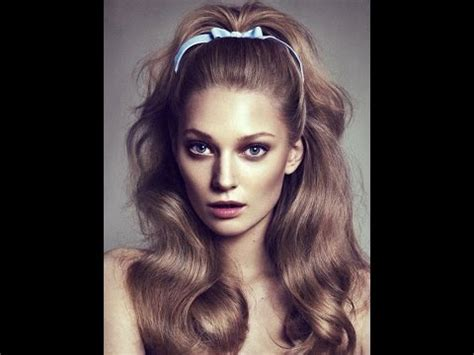 beautiful 60's hairstyles for long hair youtube