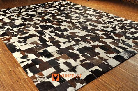 kuhfell teppich kuhfell teppich braun weiss patchwork 240 x 180 cm