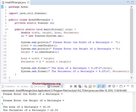 java pattern find exle pattern java find java program to find area of rectangle