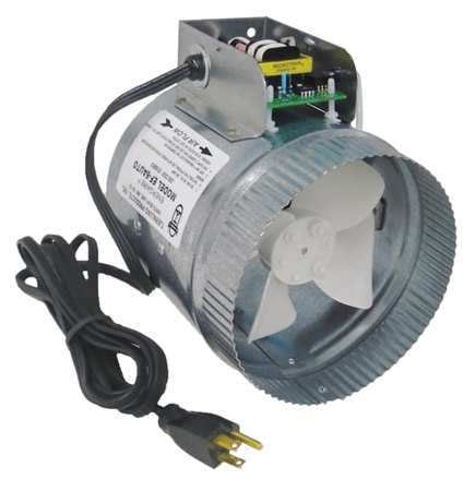 air duct booster fan with pressure switch tjernlund axial duct booster 6 in dia ef 6auto zoro com