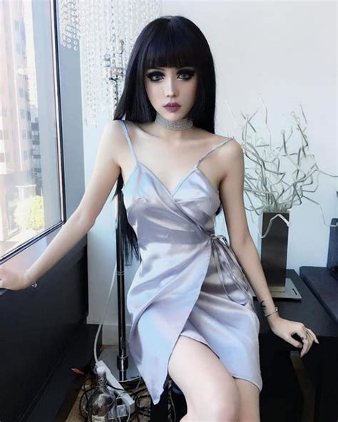 design doll look like you chinese model kina shen looks like a living gothic barbie