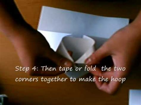 How To Make A Paper Basketball Hoop - how to make a paper basketball hoop