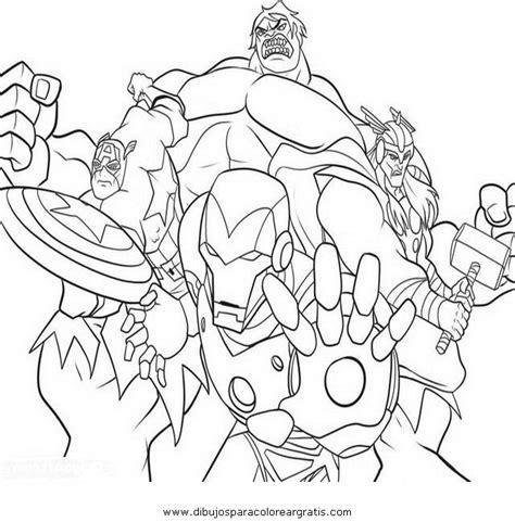 imagenes para colorear vengadores dibujos de lo avengers imagui