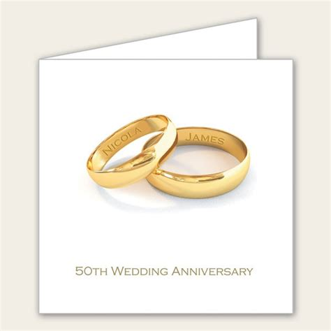 personalised 50th wedding anniversary invitations uk 50th wedding anniversary invitations personalised gold rings
