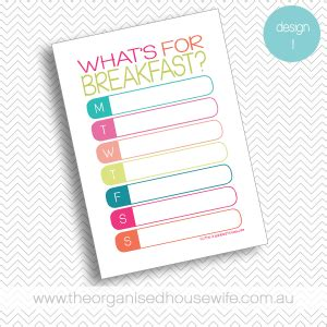 lunch box planner the organised housewife shop lunchbox planners the organised housewife shop