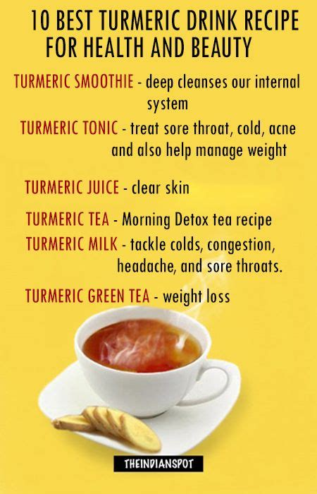 Healing Detox Tea With Turmeric Recipe by Top Turmeric Drink Recipes For Health And Health