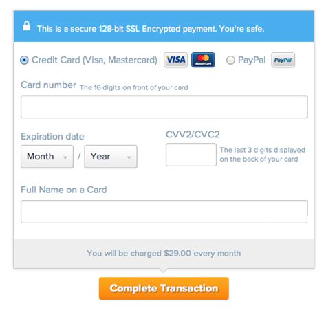credit card payment website template the ultimate ux design of the credit card payment form
