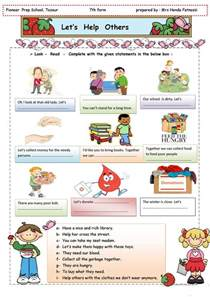 let s help others worksheet free esl printable
