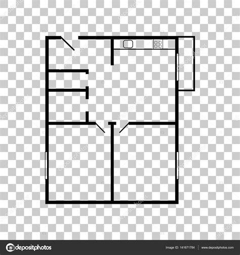 floor plan icon 아파트 평면도 투명 한 backgroun에 블랙 아이콘 스톡 벡터 169 asmati1702 gmail