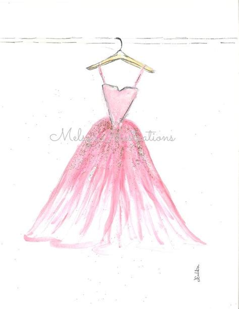Pink Sketches by The Pink Dress By Melsys On Etsy 20 00 Fashion