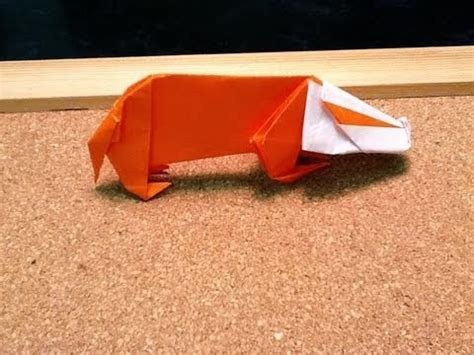Origami Badger - daily origami 403 badger hufflepuff paper crafts