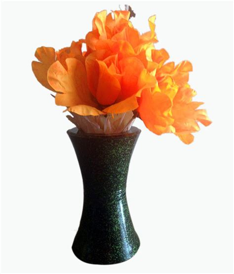 Orange Artificial Flowers In Vase by Orange Artificial Flower With Green Vase Buy Orange