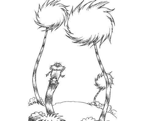 lorax coloring pages trees sewing and crafts pinterest