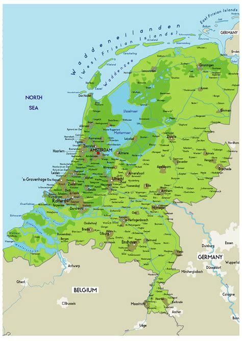 large physical map  netherlands