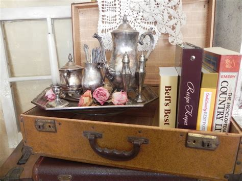 Decorating Ideas Using Suitcases Upcycled Home D 233 Cor Giving New To Vintage Suitcases