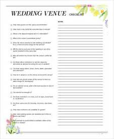 Sle Letter For Event Venue Sle Wedding Checklist 6 Documents In Word Pdf