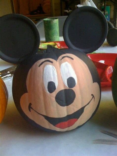 mickey mouse pumpkin faces mickey pumpkin i spray painted the whole pumkin black