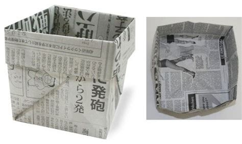 Origami Garbage Bin - junk culture 12 terrific trash can garbage bin designs