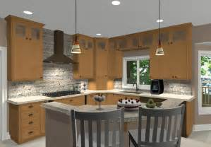 Kitchen Island Design Ideas With Seating Different Shaped Kitchen Island Designs With Seating Conexaowebmix