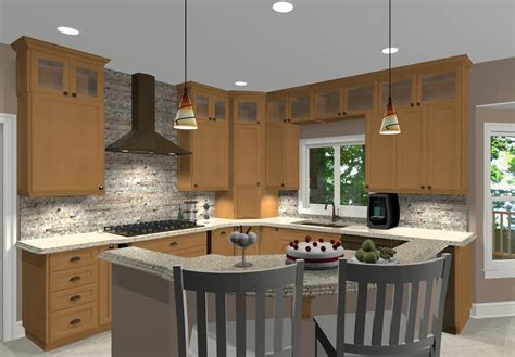 Different Kitchen Designs Different Shaped Kitchen Island Designs With Seating