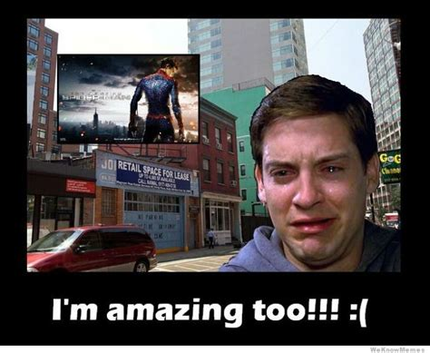 Tobey Meme - how tobey maguire felt after seeing the amazing spiderman