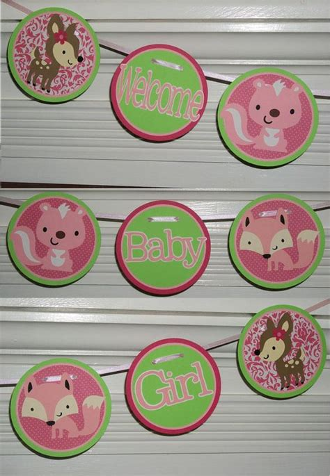 Custom Made Baby Shower Banners by Forest Woodlands Welcome Baby Shower Banner Custom