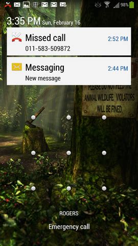 lock screen and email notifications android forums at