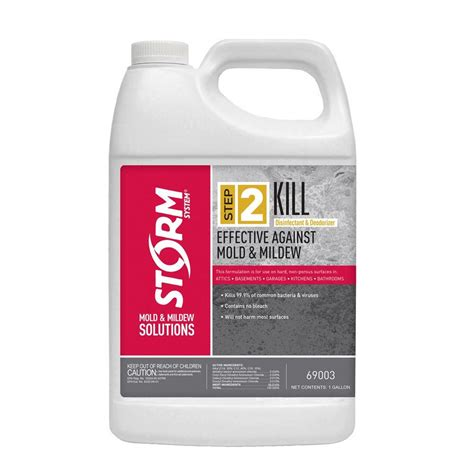 system step 2 kill 1 gal mold and mildew disinfectant 69003xx 1 the home depot