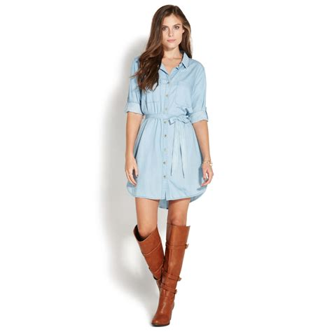 Dress For Button chambray button dress shoedazzle