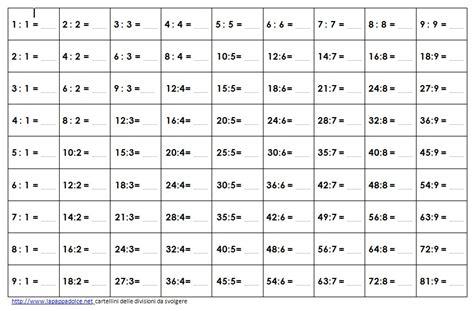 tavole matematica matematica montessori le tavole della divisione