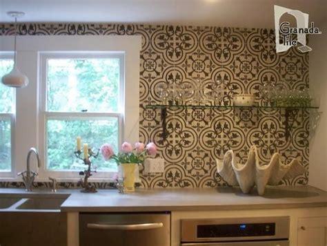 cement tile backsplash crafted custom tile kitchen backsplash cluny cement