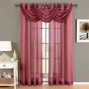 Sheer Maroon Curtains Sheer Burgundy Curtains Ideas