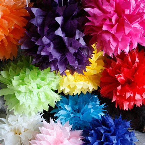 Tissue Paper Pom Poms - 35cm spikey tissue paper pom poms by pearl and earl