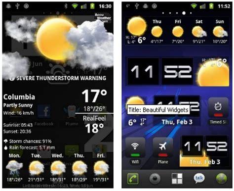 android weather widget beautiful widgets customizable time and weather widget for android java mobile phones