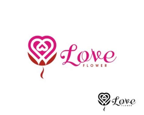 logo design love a 0321985206 love flower designed by kapinis brandcrowd