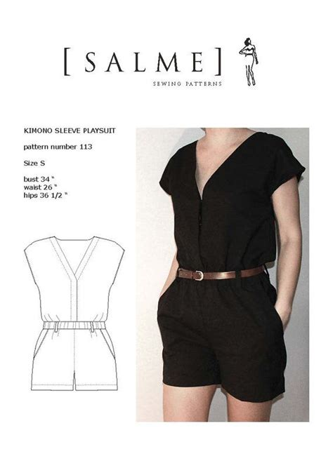 pattern jumpsuit free playsuit pdf sewing pattern playsuits