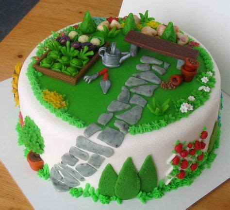Garden Cake On Pinterest Garden Cakes Gardening And In The Garden Cake Ideas