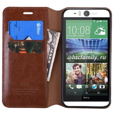Telephone Box Htc One M9 Custom Cover simple brown faux leather htc one m9 flip cover wallet phone